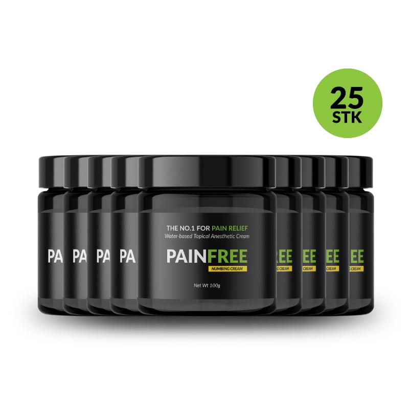 PAINFREE 25stk a 30g produkt fremvisning på shoppen