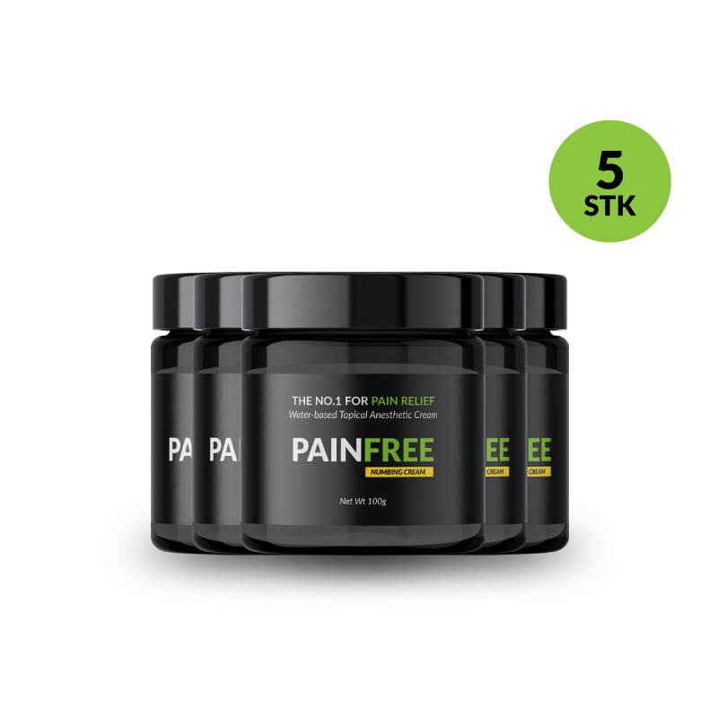 PAINFREE 5stk a 30g produktfremvisning i shoppen
