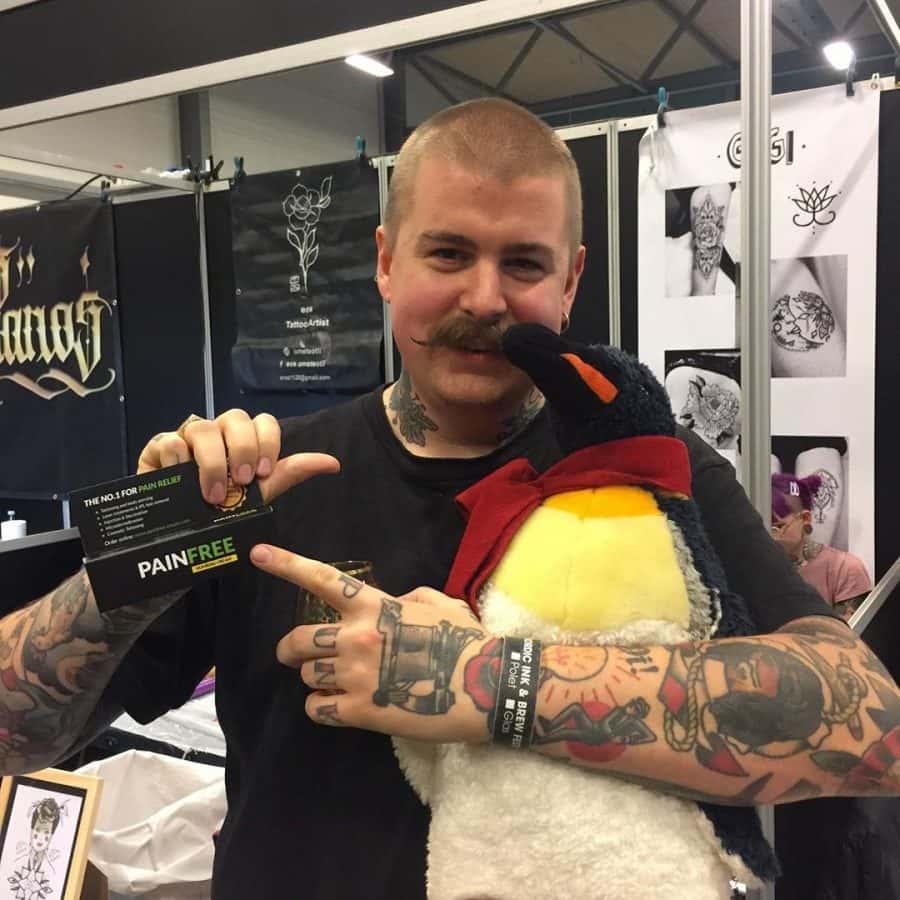 tatovør med pain free creme